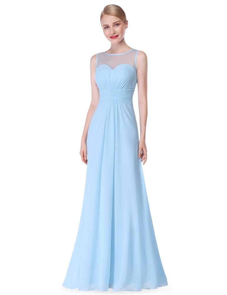 Ever-Pretty Blankytně modré dlouhé večerní šaty s šifonovým živůtkem ... 96710564a4