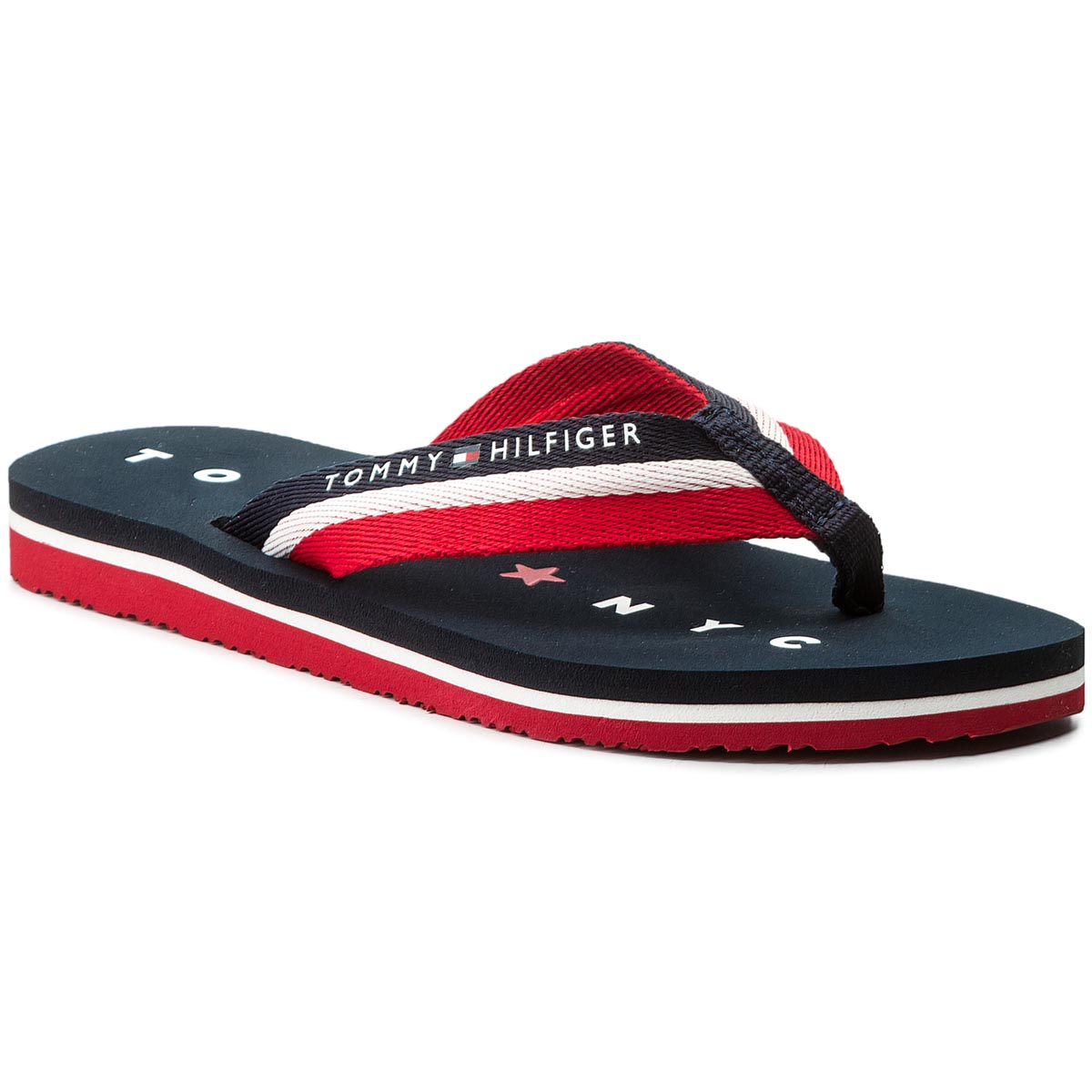 Žabky TOMMY HILFIGER - Tommy Loves Ny Beach Sandal FW0FW02370 Midnight 403 237815fec7