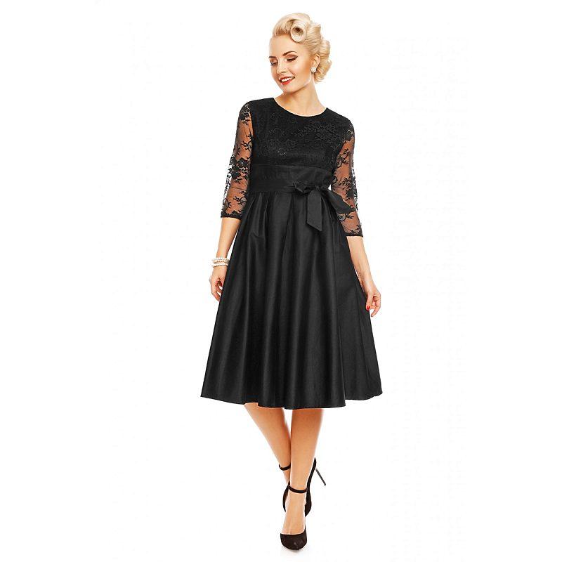 Černé šaty s krajkovými rukávy Dolly and Dotty Celine - Glami.cz b4ba6b99d2
