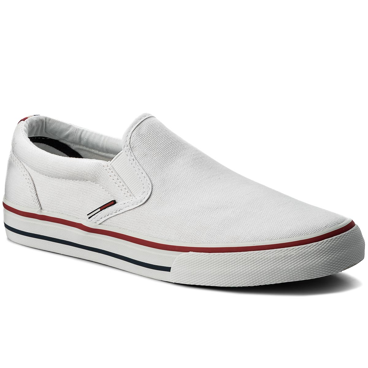 Teniszcipő TOMMY JEANS - Textile Slip On EM0EM00002 White 100 - Glami.hu aea953a035