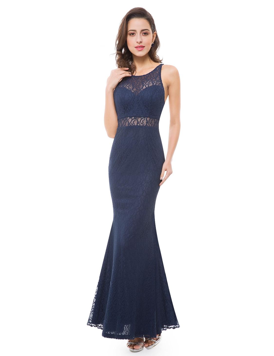 Ever Pretty plesové šaty tmavě modré krajkované 7033 - Glami.cz 7a01ad4ffc