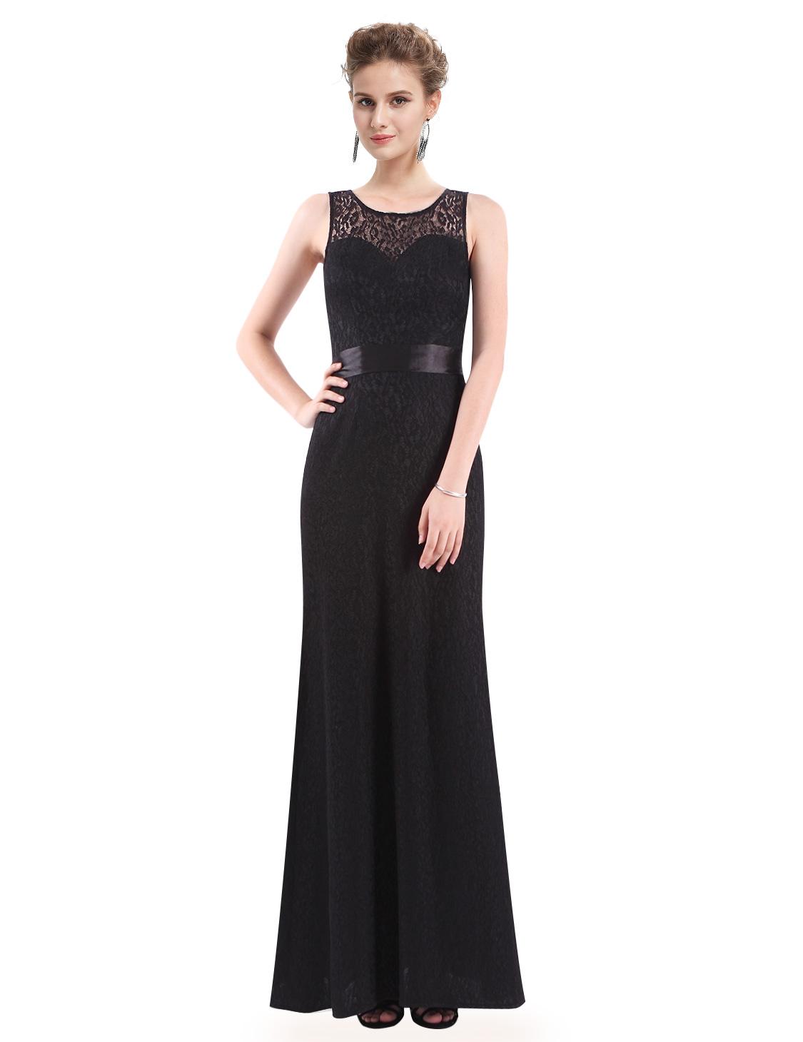 Ever Pretty plesové šaty černé krajkované 8938 - Glami.cz bbdac762a5