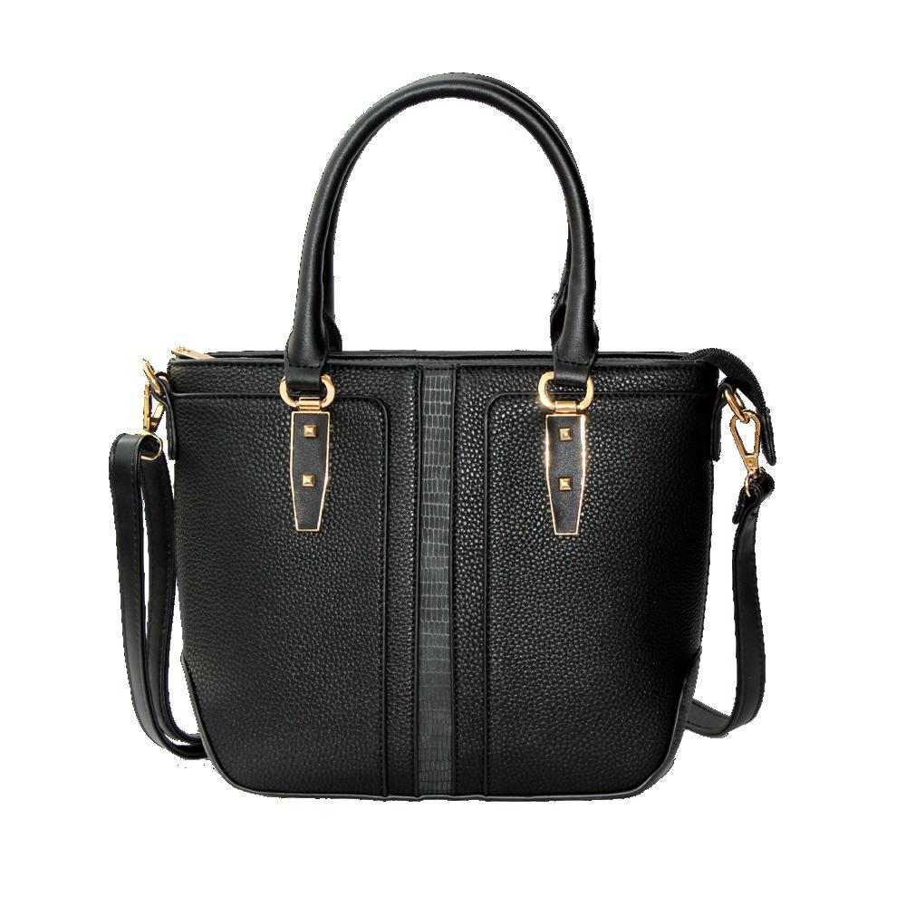 ZAZZA Elegantná čierna kabelka so zlatými detailmi - Glami.sk 130c9e20579