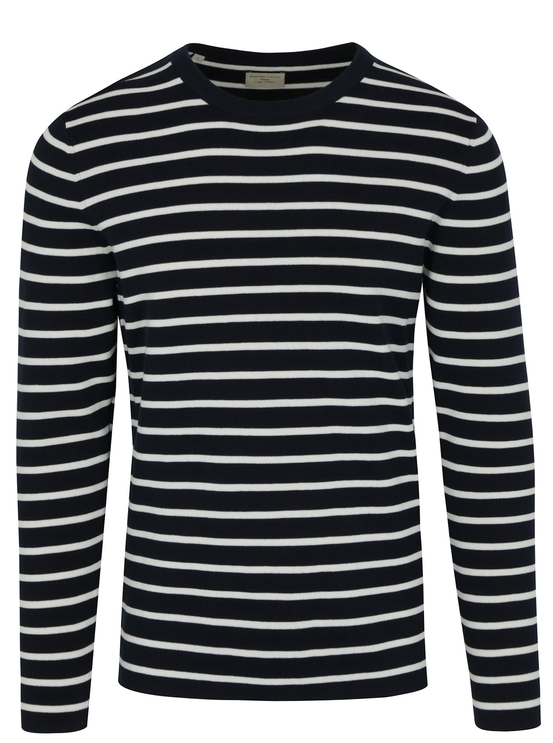 238feb1f45 Tmavomodrý pruhovaný sveter Selected Homme Sailor - Glami.sk