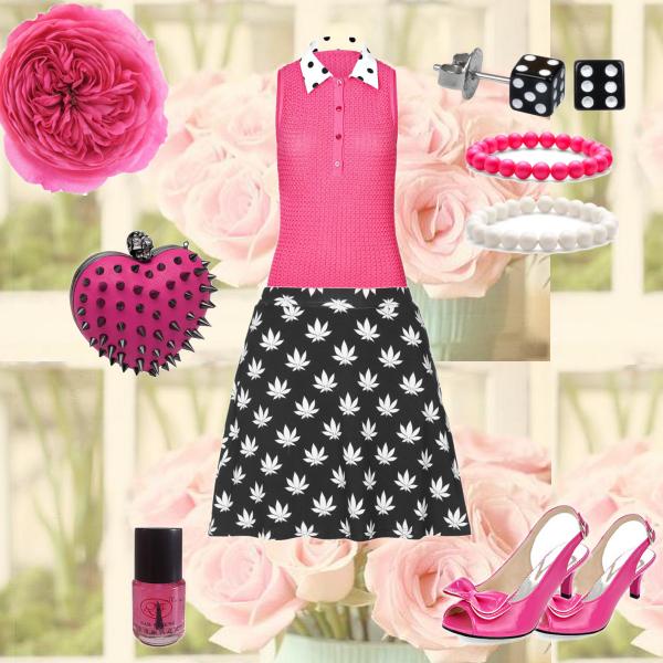 Růžový letní set