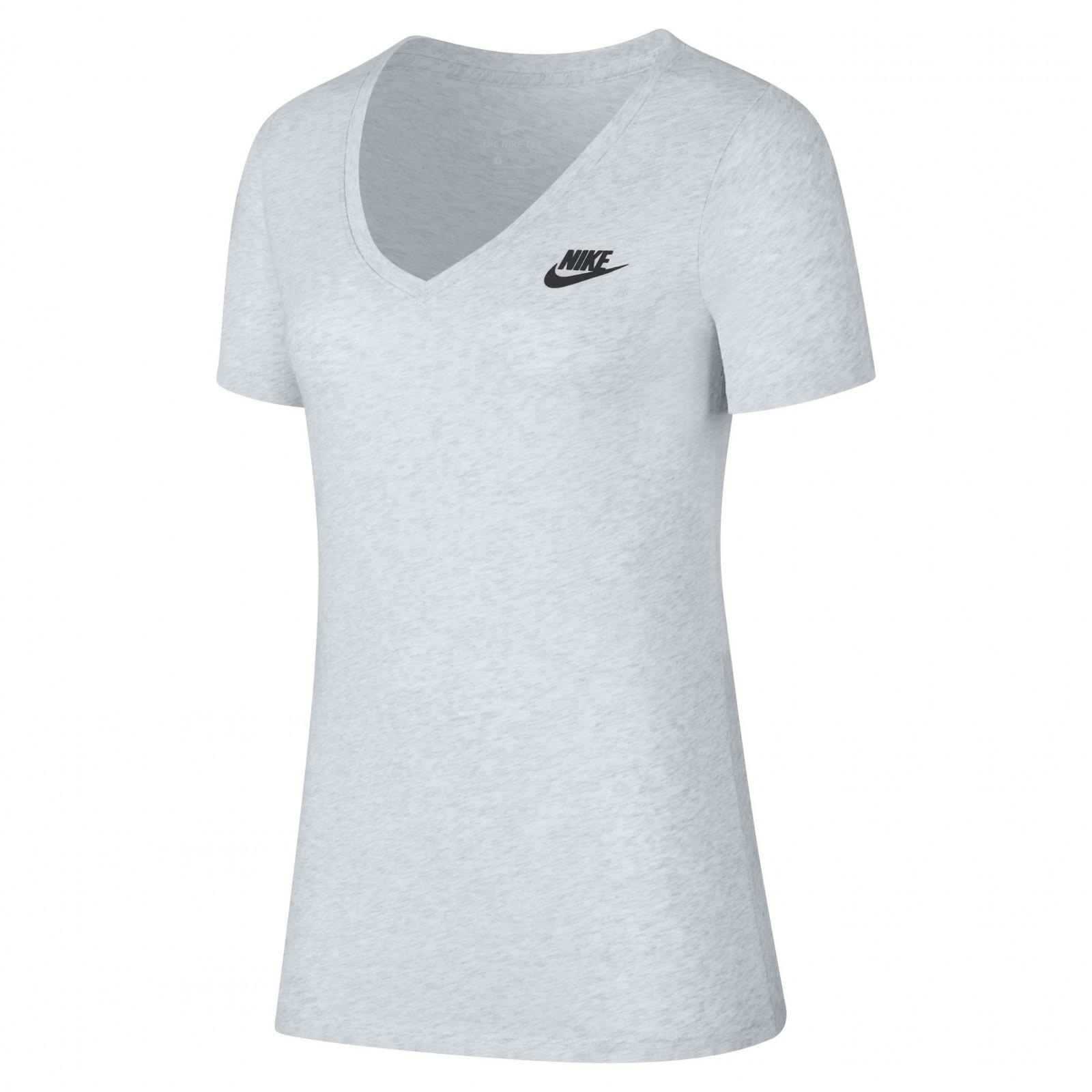 6b3db4f6fec2 Dámské Tričko Nike W NSW TEE VNECK LBR BIRCH HEATHER BLACK - Glami.cz