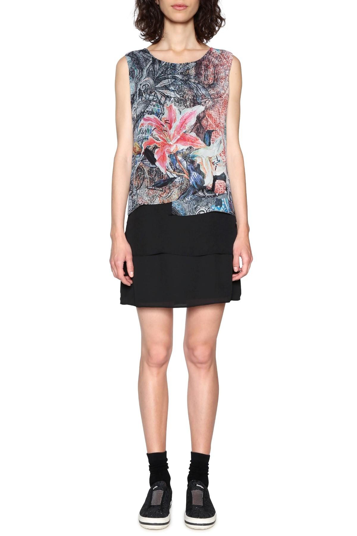 Desigual fekete ruha Aploma színes motívumokkal. Desigual fekete ruha  Aploma színes motívumokkal. Desigual fekete ruha Aploma színes motívumokkal 36c55956d1