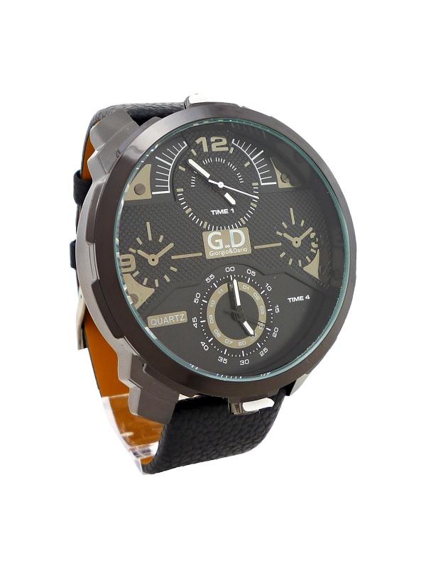 Pánské kožené hodinky G.D Interesty černé 323P - Glami.cz fc063c2dca