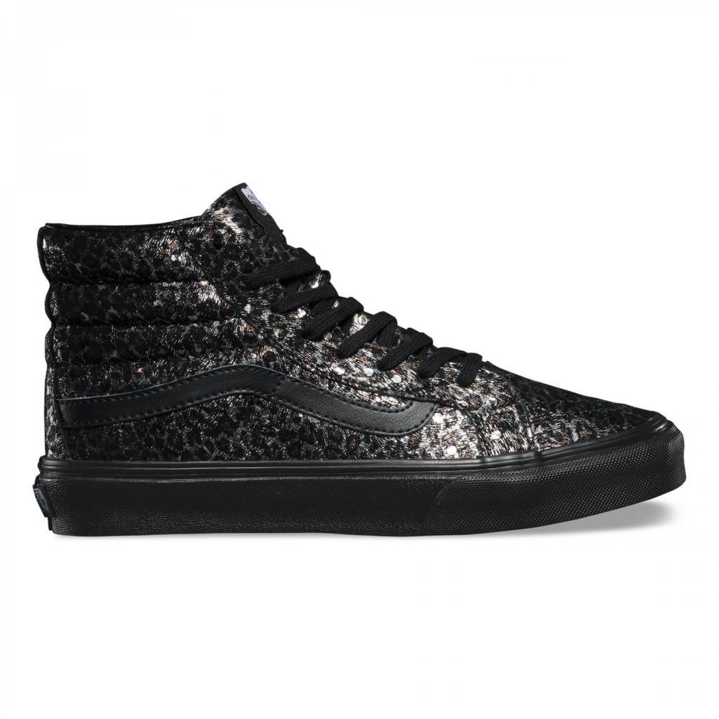 Boty Vans SK8-Hi Slim (Metallic Leopard) black black - V0018IJQC ... 470b003fe2c