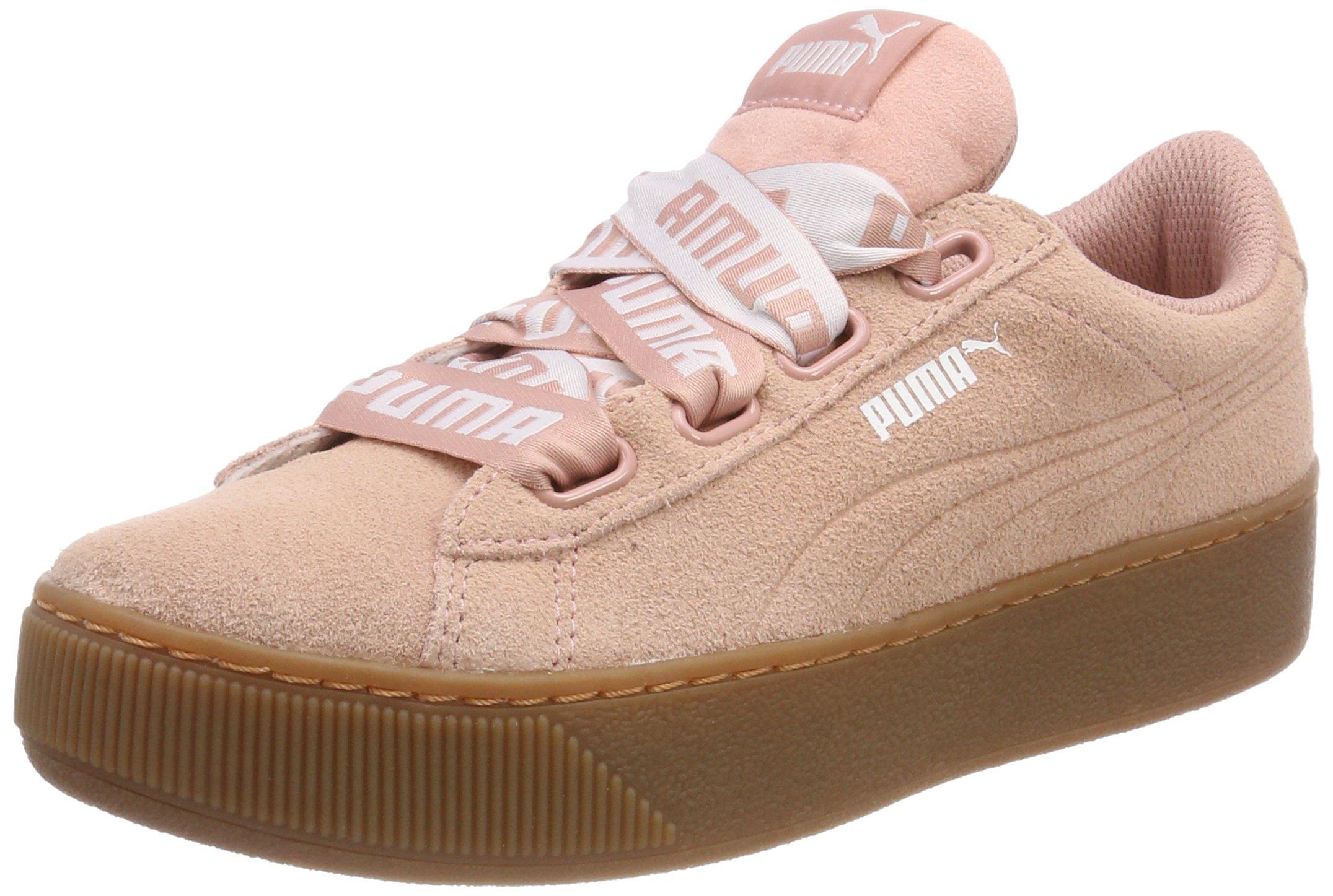 Vikky Platform Basses Beige Bold Ribbon Peach Femme Sneakers Puma pqxCH161