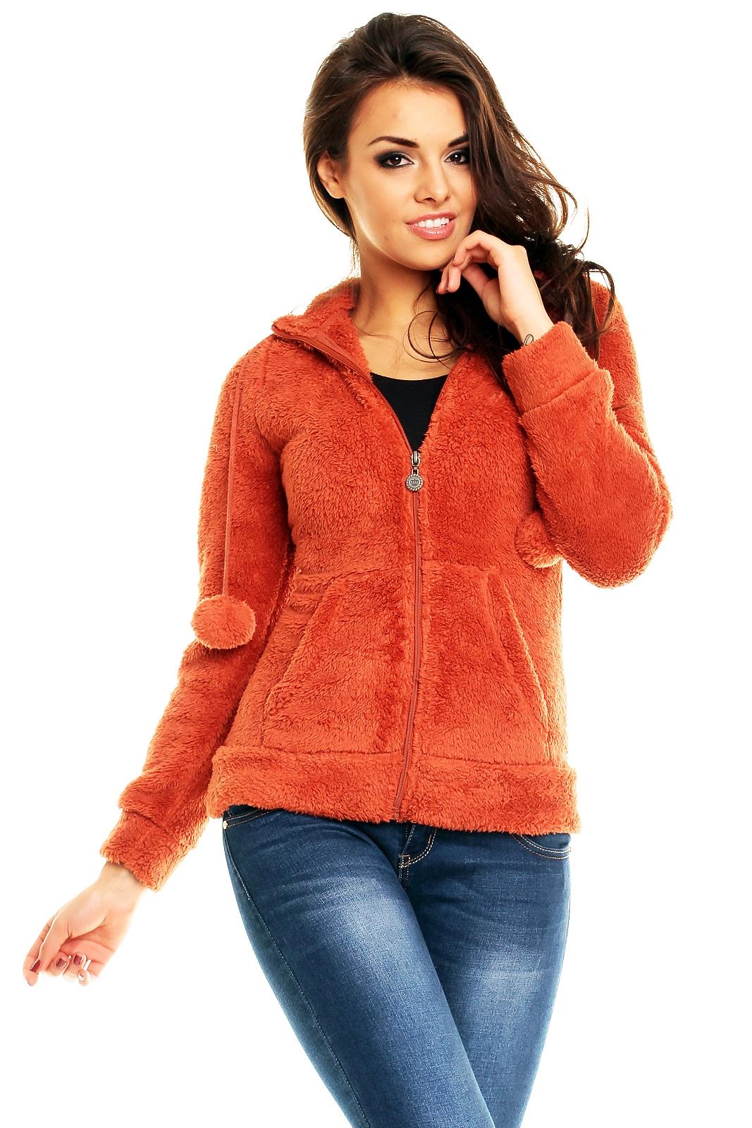 House Style Mikina s uškami oranžová - Glami.sk e3bc6bf5289