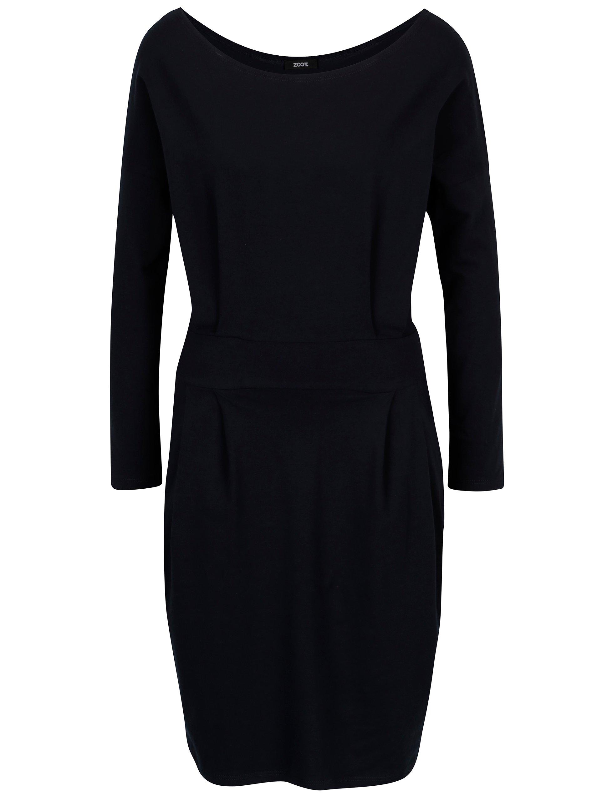 bb528a6320df ... modré pouzdrové šaty s kapsami a dlouhým rukávem ZOOT. -50%. Tmavě ...