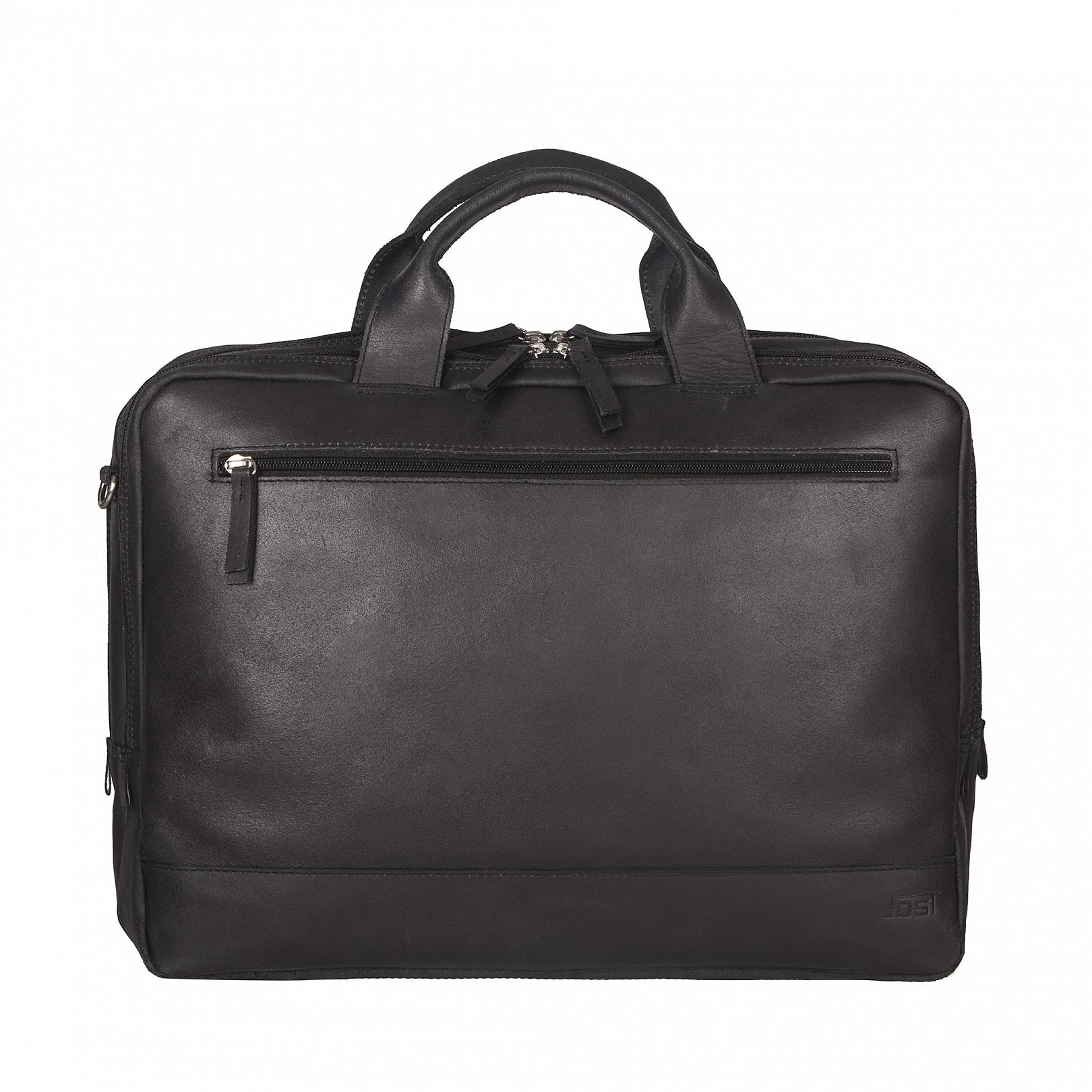 JOST Kožená byznys taška na notebook NARVIK 1347 černá - Glami.cz 06b429ed88