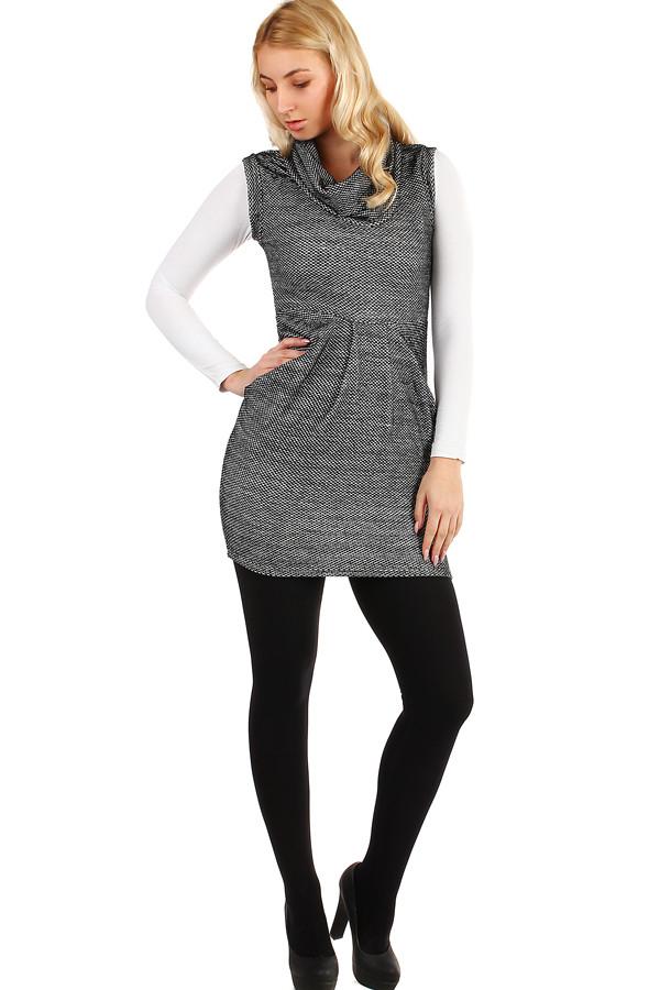 YooY Dámské zimní šaty bez rukávů (černá 1dff4a33ba