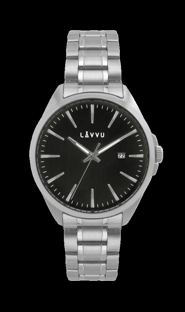 Stylové pánské hodinky LAVVU STAVANGER Black - Glami.cz 4bd038cae1