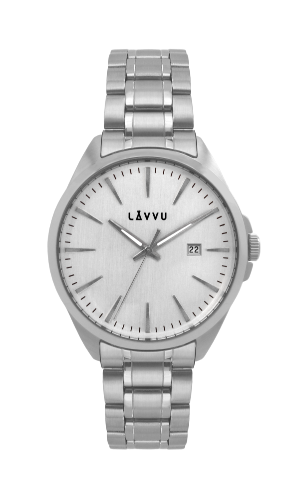 Vodotěsné stylové pánské hodinky LAVVU STAVANGER Silver LWM0040 ... 99d26e83e2