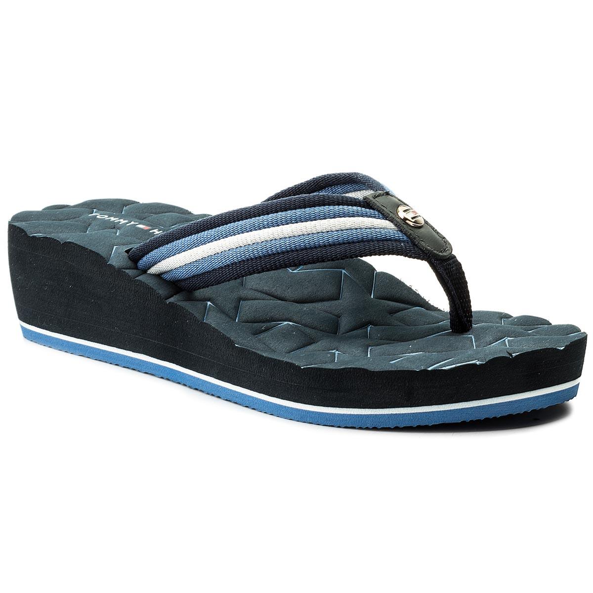 Žabky TOMMY HILFIGER - Comfort Mid Beach Sandal FW0FW02367 Midnight ... 804ce69b5a