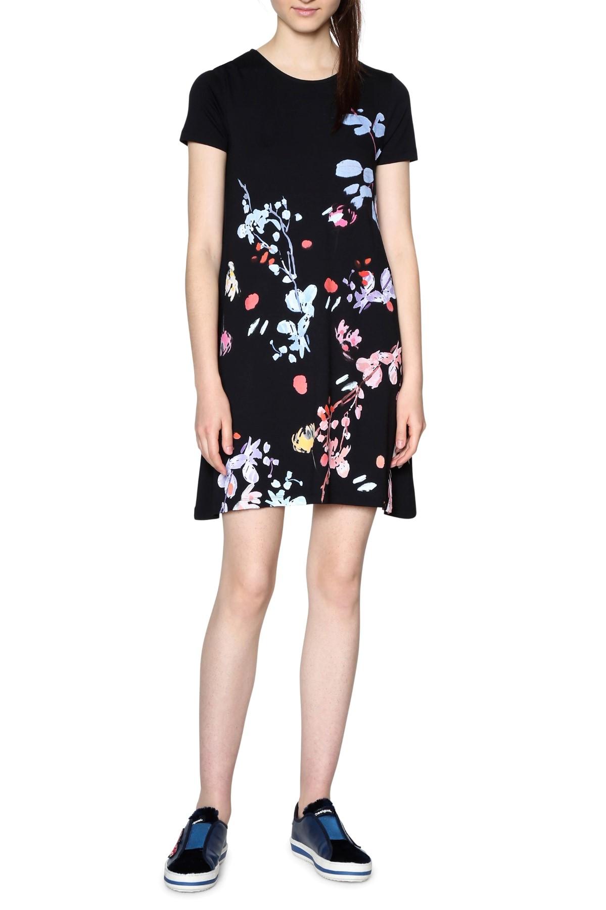 Desigual splývavé šaty Cicero s kvetmi - Glami.sk 633d750160b