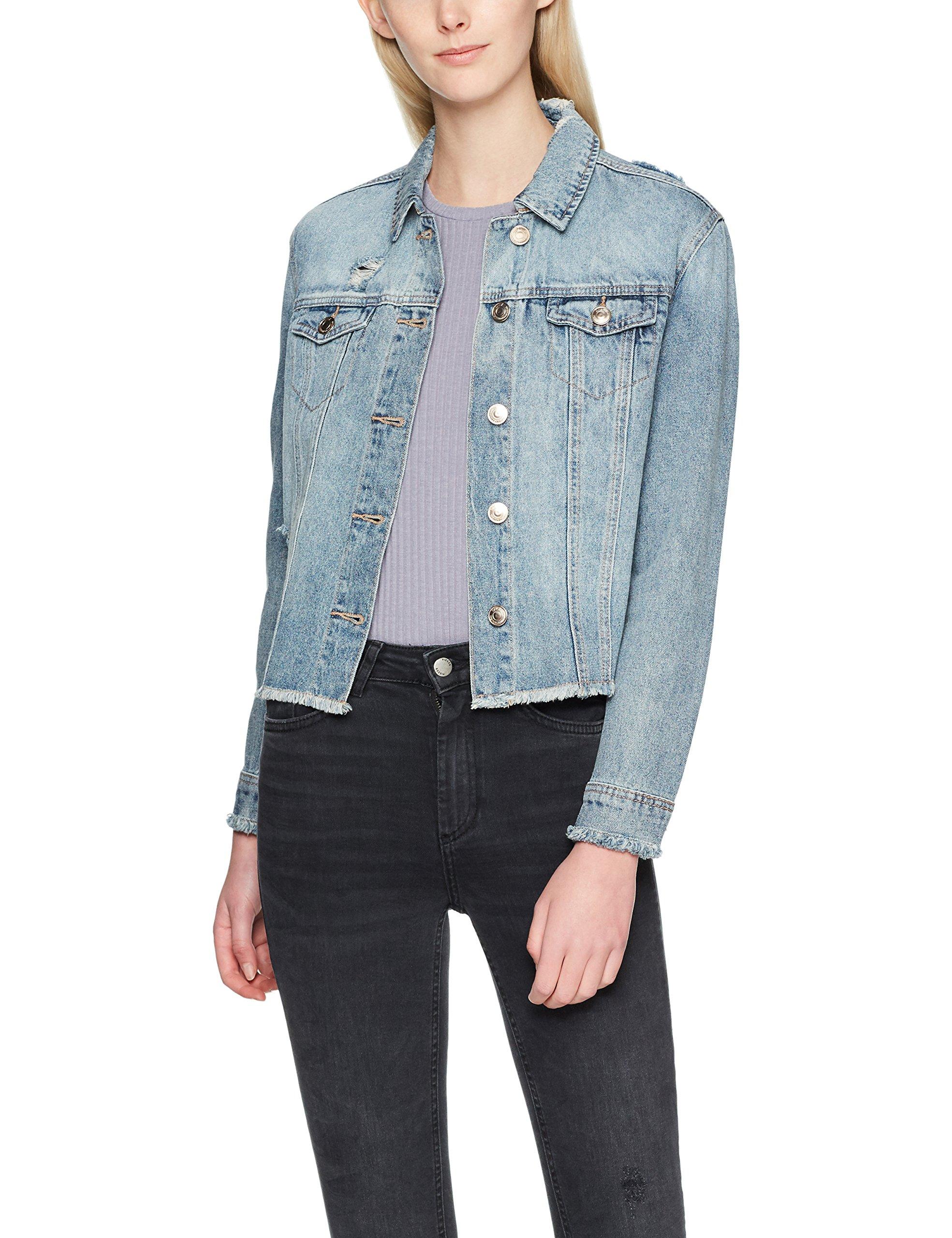 low cost eded8 67c2e ONLY Damen Jeansjacke onlJULIE EMB DNM Jacket BJ11446, Blau Light Blue  Denim, 38