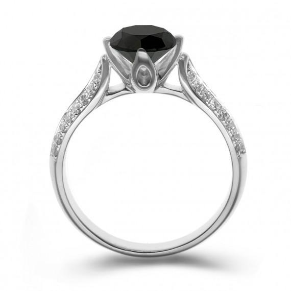 Eppi Zásnubní prsten s černým diamantem Ida - Glami.cz 77a44997eab