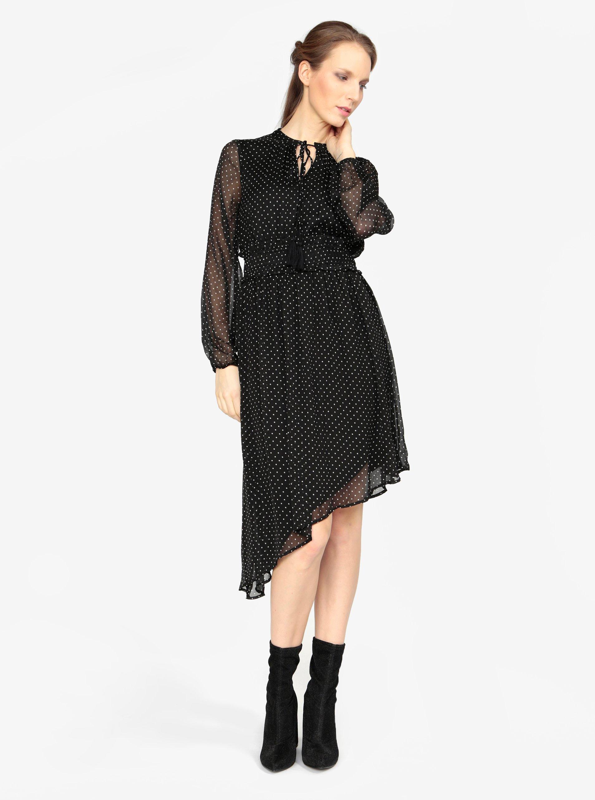 38c3f8325904 Černé asymetrické šaty s dlouhým rukávem VERO MODA Lotta - Glami.cz