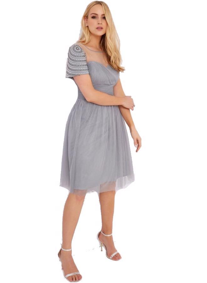 LITTLE MISTRESS Šifónové šaty s ozdobnými rukávmi - Glami.sk 7e73f9d528