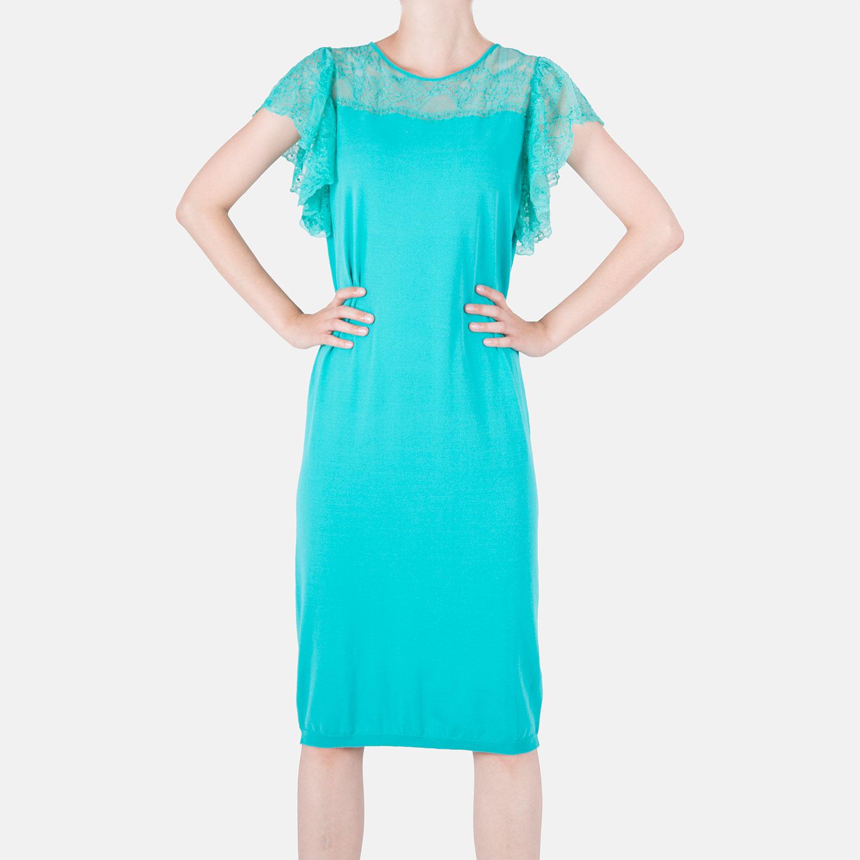 69e018c55e1a Krásné úpletové šaty Blumarine tyrkysové - Glami.sk