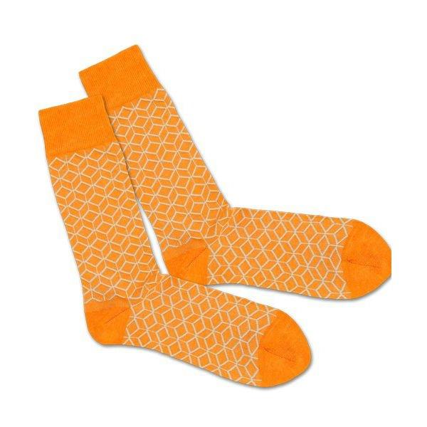 47b42da5430 DILLY SOCKS Barevné ponožky Classic Orange Lining 41 46 - Glami.cz