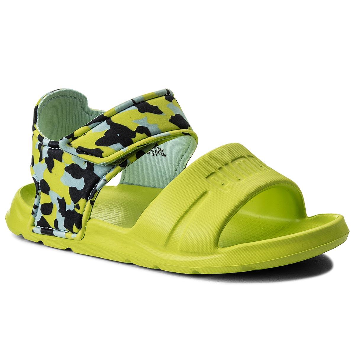 1557d6c7cb Szandál PUMA - Wild Sandal Injex Camo PS 365081 01 Peacoat/Limepunch ...