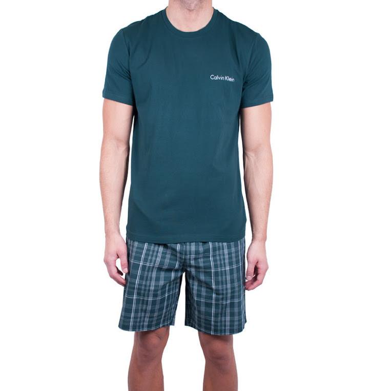 025d96ab29 Pánské pyžamo Calvin Klein tmavě zelené (NM1533E-DGW) - Glami.sk