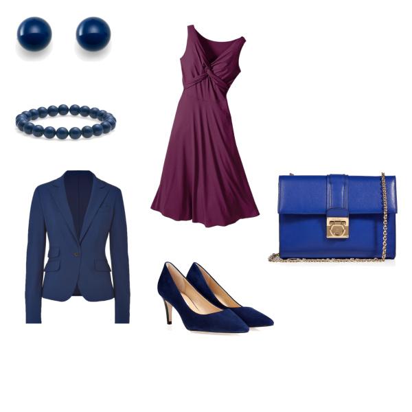 fialová a modrá