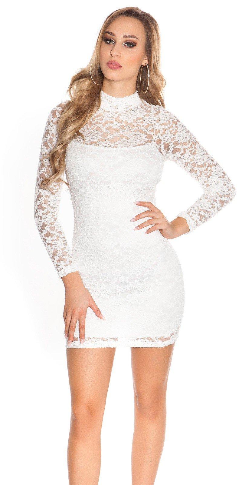Koucla Čipkované šaty s dlhým rukávom - Glami.sk 2e33ed561c7