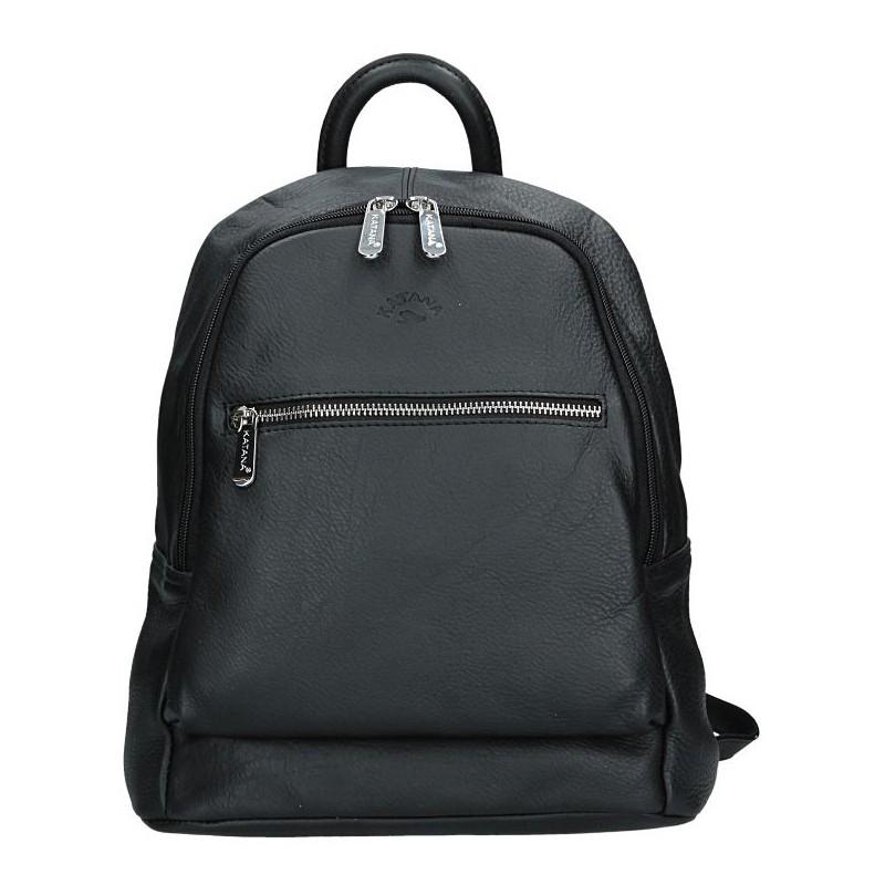 cdd0c090670 Dámský kožený batoh Katana 83819 - černá - Glami.cz