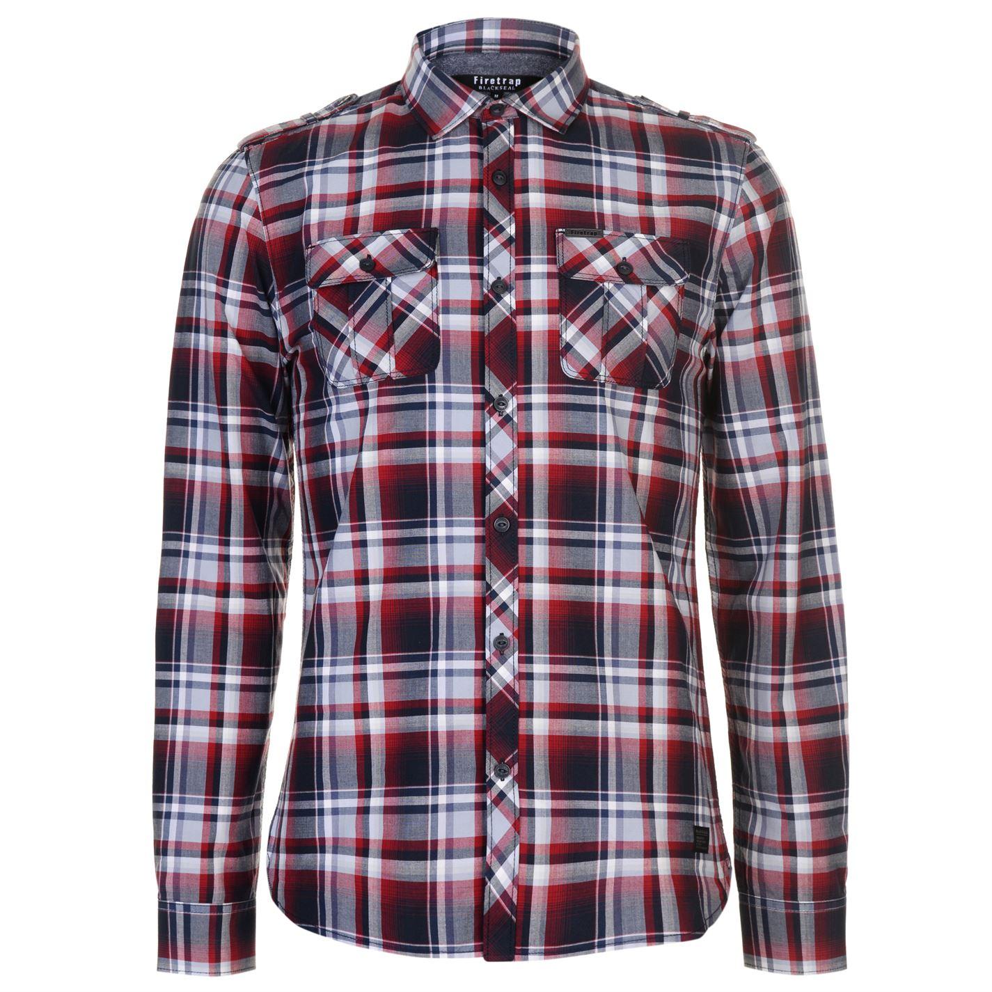 Košile pánská Firetrap Blackseal Checked Red - Glami.cz 61dd4619fd