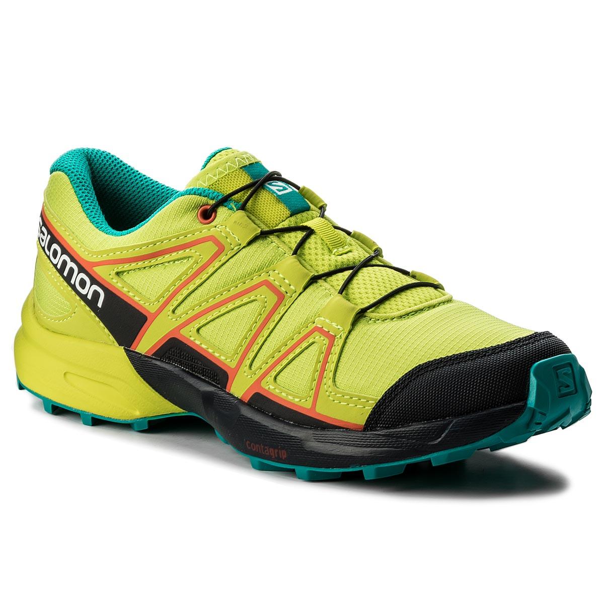 89c6e8579ed Trekingová obuv SALOMON - Speedcross J 401294 14 M0 Acid Lime Night ...