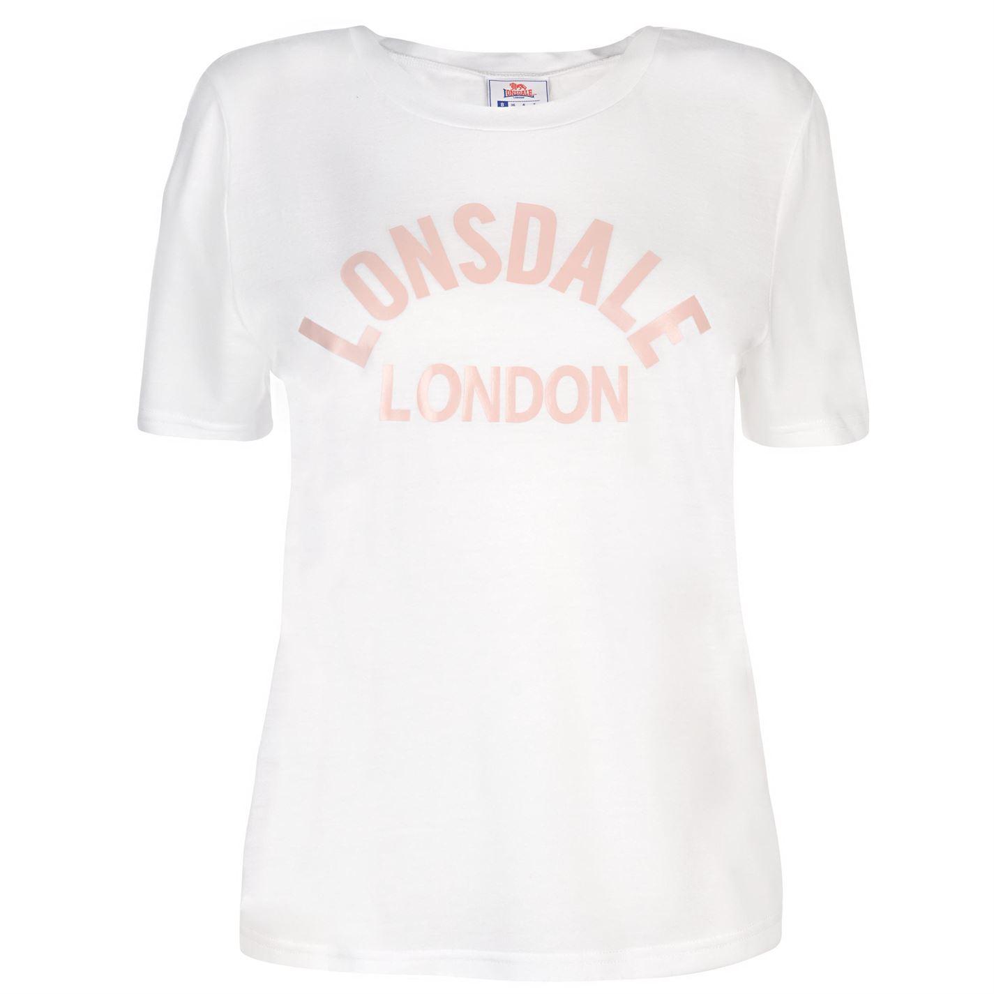 Triko Lonsdale Large Logo Crew T Shirt dámské White Rose - Glami.cz 882665f8e57