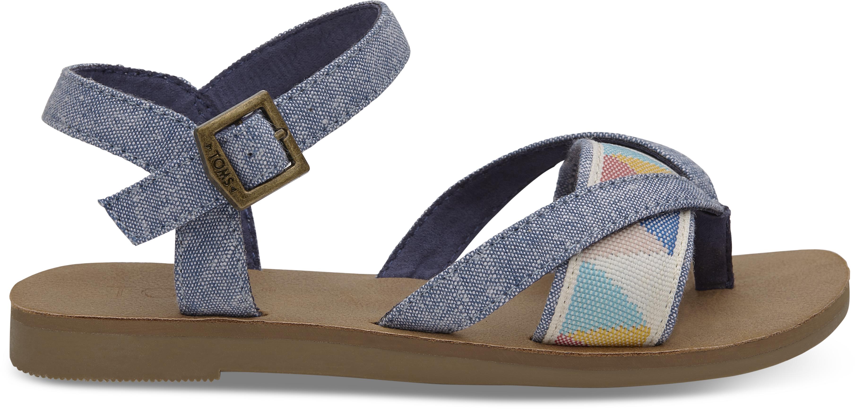 1f0cf2da6f896 Detské modré sandálky TOMS Tribal Lexie - Glami.sk