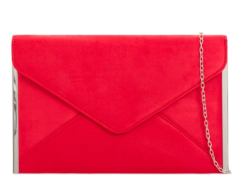 ikabelky Listová kabelka s lemom K-50292 červená - Glami.sk 0750f7e6599