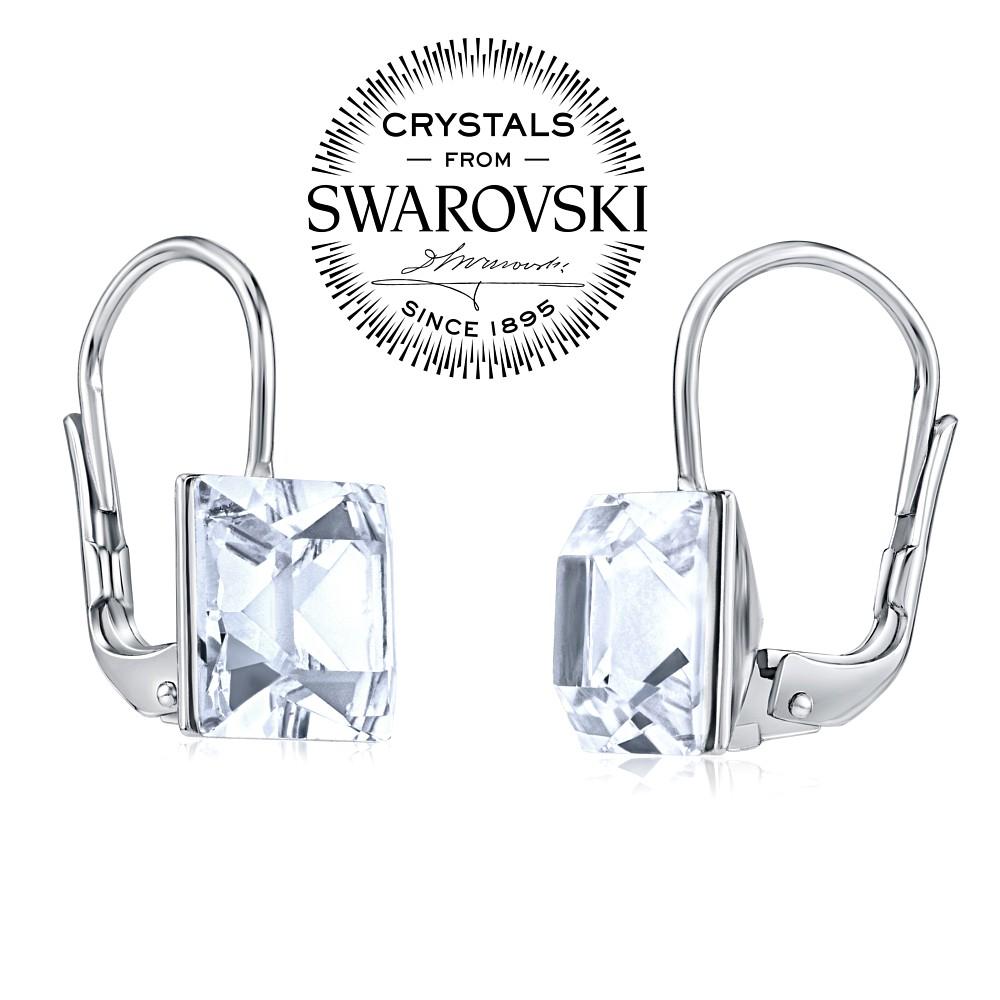 Swarovski(R) Crystal SILVEGO Stříbrné náušnice se Swarovski Crystals 8 mm  čiré B31474W 141433925d0
