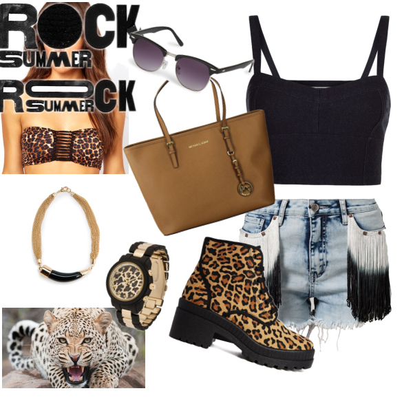 leopard in summer