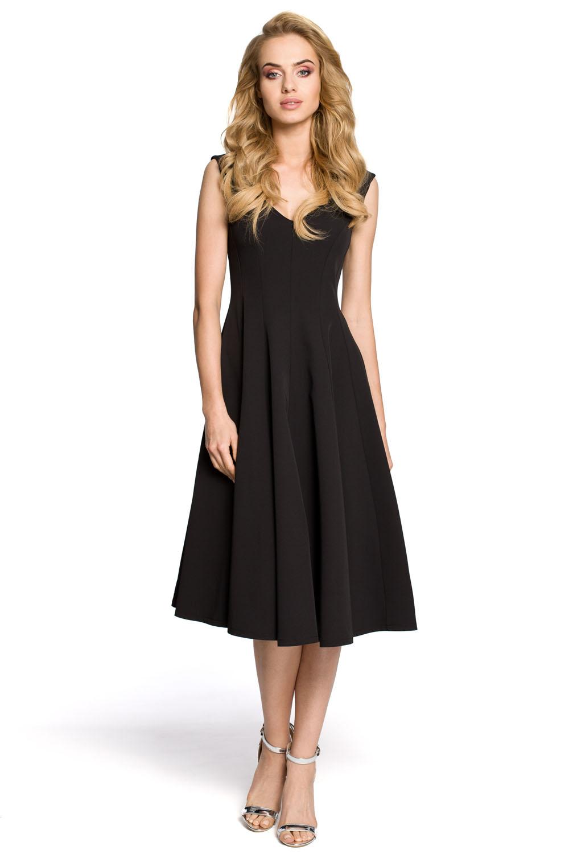 a861da989999 Dámske koktejlové čierne šaty MOE201 - Glami.sk