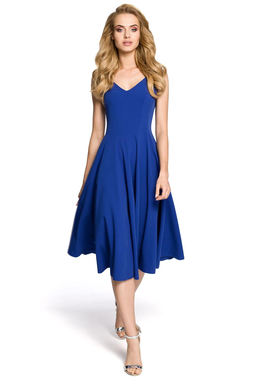 49930f859c54 Dámske koktejlové modré šaty MOE201 - Glami.sk