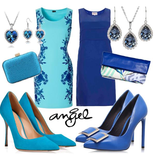 Set v modré..