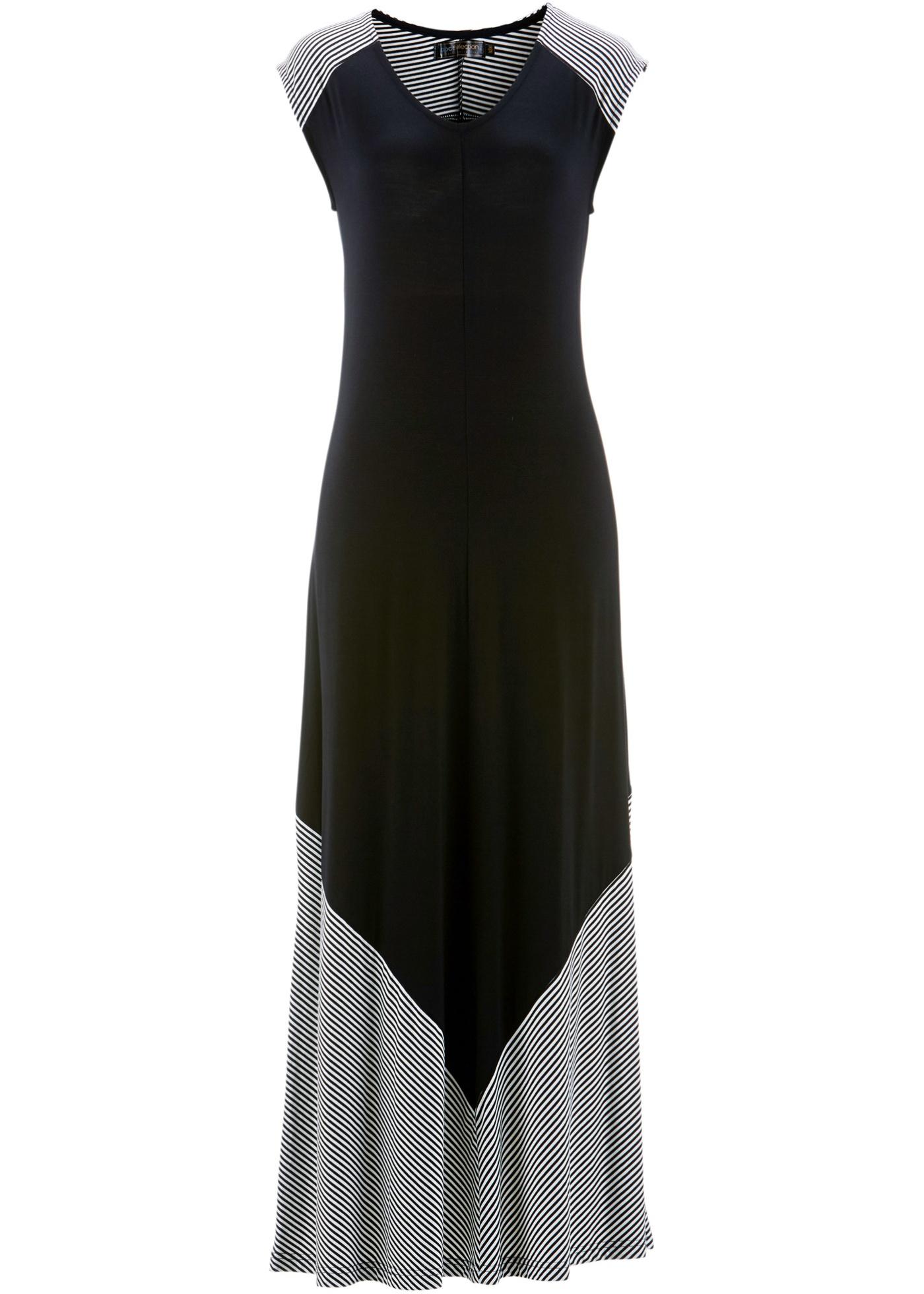 bpc selection Bonprix - robe d été Robe matière T-shirt noir sans manches  pour femme 650349d1825c