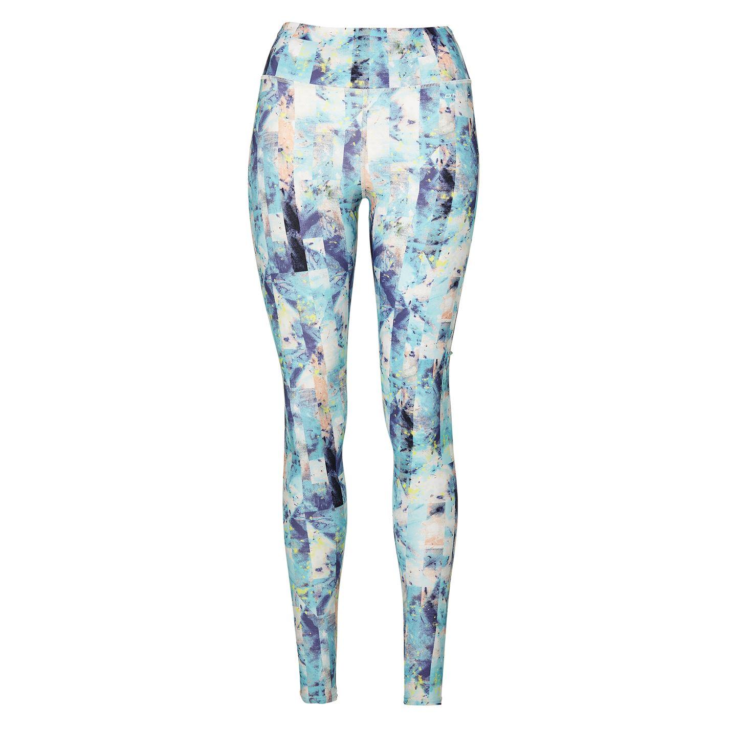 ONeill Hi Rise Leggings Ladies Blue AOP Purple - Glami.cz 37d7519fc9