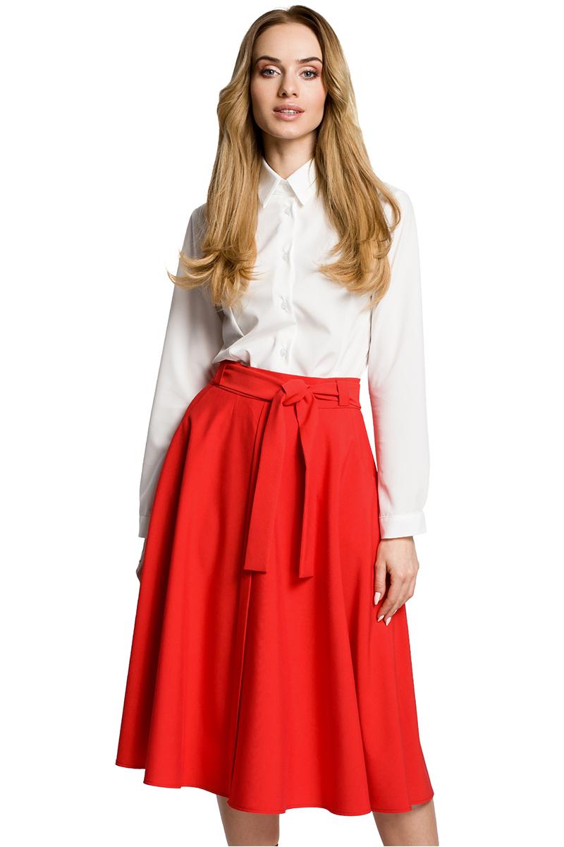 4bf4b97dfd62 Červená sukňa MOE 367 - Glami.sk