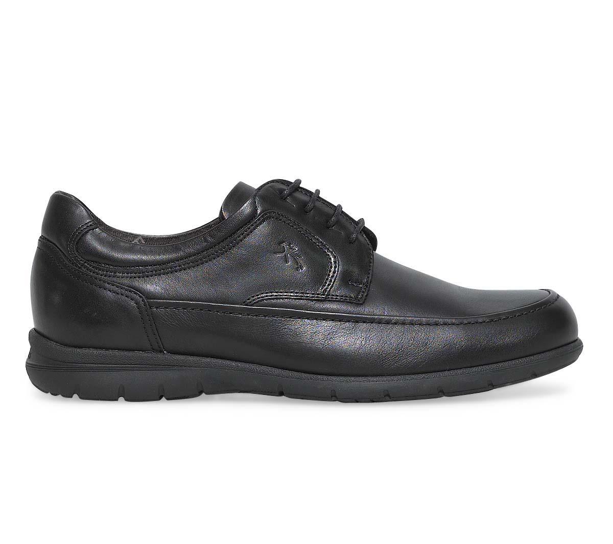 Fluchos derby confort cuir en noir rOr4F