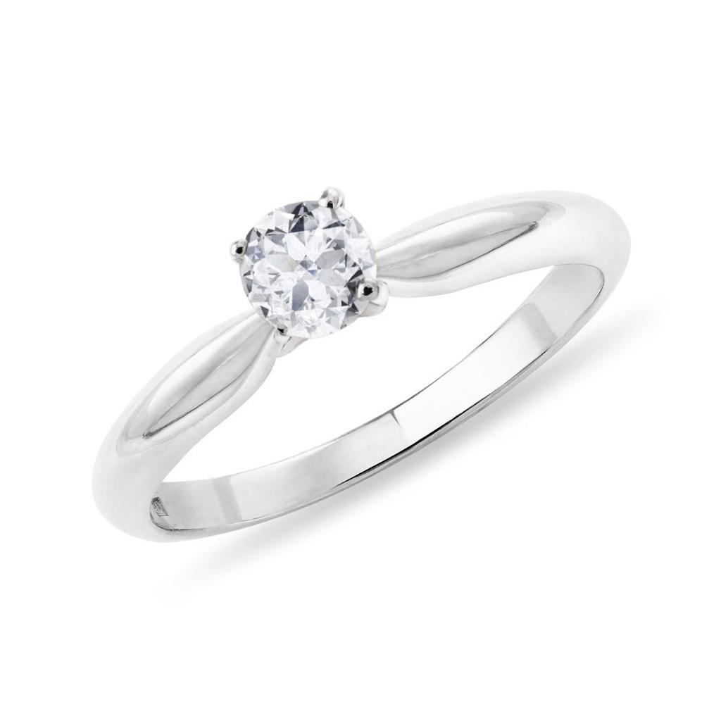 Zásnubný prsteň z bieleho zlata KLENOTA k0145022 - Glami.sk 5b6b6656b5d