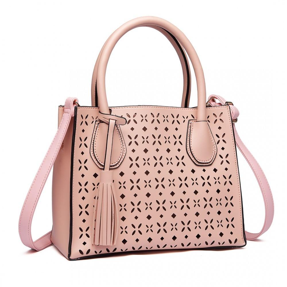 Růžová praktická moderní dámská kabelka Umel - Glami.sk 6d30ec9433c