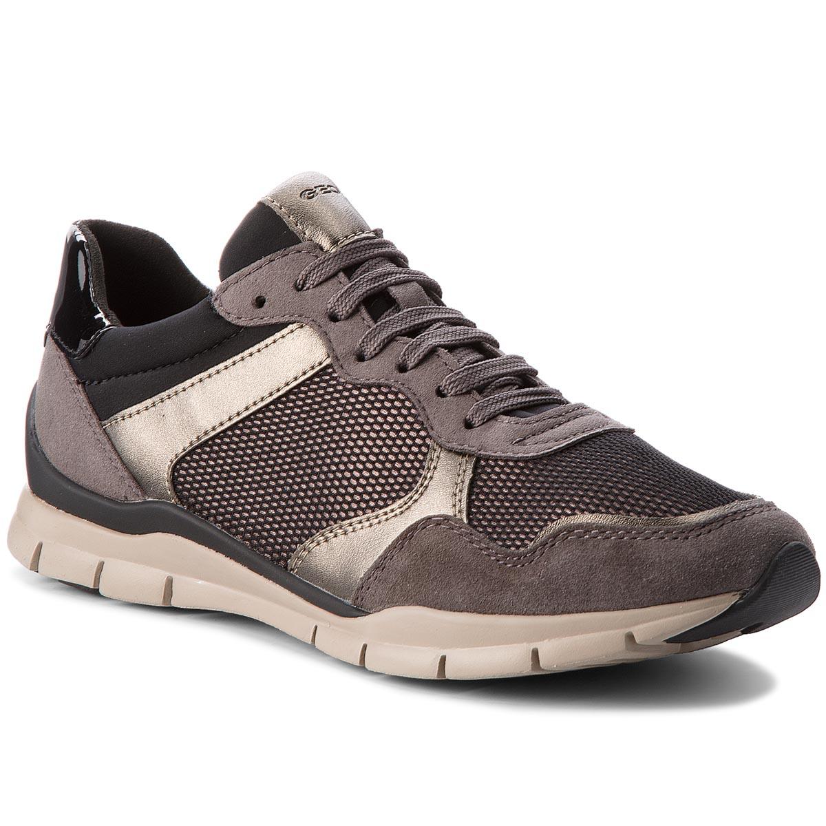 Sneakersy GEOX - D Sukie A D74F2A 022DV C1176 Dk Grey Chestnut ... c50bc987f1